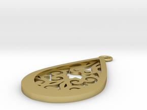 Persephone pendant in Natural Brass: Medium