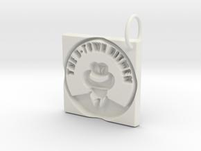 The B-Town Hitmen Keychain in White Natural Versatile Plastic