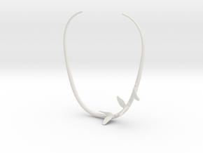 Birds on wire in White Natural Versatile Plastic