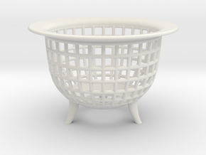 Neo Pot Weave 4in.  in White Natural Versatile Plastic