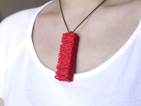 Twigs Pendant - Wood Series in Red Processed Versatile Plastic