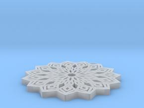 Lelia pendant in Smooth Fine Detail Plastic: Medium