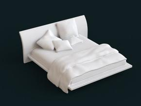 1:39 Scale Model - Bed 02 in White Natural Versatile Plastic