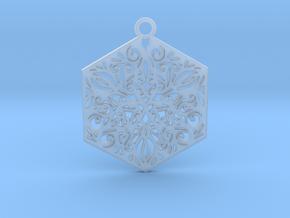 Ornamental pendant in Smooth Fine Detail Plastic