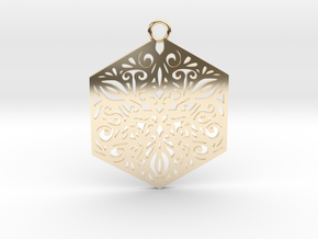 Ornamental pendant in 14k Gold Plated Brass