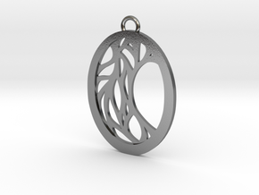 Meliae pendant in Polished Silver: Large