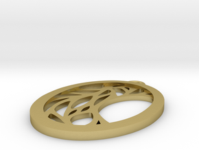 Meliae pendant in Natural Brass: Small