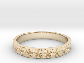 Starry Nut band - Size 7 in 14K Yellow Gold