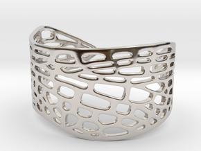 Dragonfly Wing Bracelet - Medium in Rhodium Plated Brass