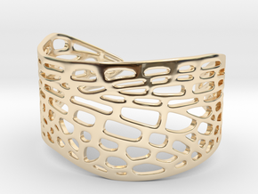 Dragonfly Wing Bracelet - Medium in 14k Gold Plated Brass
