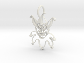 Joker Pendant in White Natural Versatile Plastic