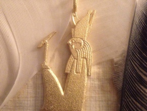 Heru-sa-Aset / Harseisis amulet in Polished Gold Steel