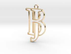 Monogram with initials B&J in 14k Gold Plated Brass