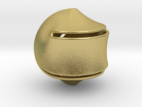 Sloped Hexasphericon Large & Hollow in Natural Brass