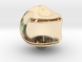 Sloped Hexasphericon Large & Hollow in 14K Yellow Gold