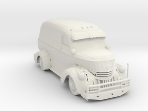Jeepers Creeper Van V2 87 scale. in White Natural Versatile Plastic