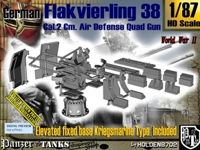 1/87 Kriegsmarine Flakvierling 38 Set001 in Smooth Fine Detail Plastic