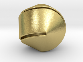 Hexasphericon Large & Hollow in Natural Brass