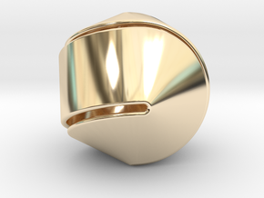 Hexasphericon Large & Hollow in 14K Yellow Gold