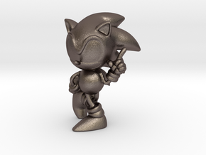 Sonic The Hedgehog in Polished Bronzed-Silver Steel