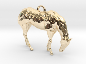 Horse Key chain or pendant in 14k Gold Plated Brass