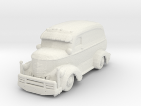 Jeepers Creeper Van v2 220 scale in White Natural Versatile Plastic