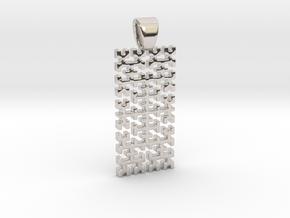 Big Hilbert curve [pendant] in Platinum