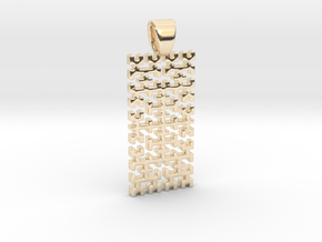 Big Hilbert curve [pendant] in 14K Yellow Gold