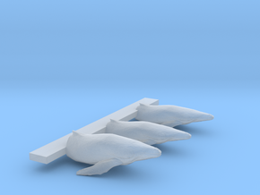 Leaping Humpback 1_600 scale in Smooth Fine Detail Plastic