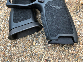 X Frame Base Pad for SIG P320 - Round Detent  in Black Natural Versatile Plastic