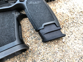 Extended X Frame Base Pad for SIG P320 - Square de in Black Natural Versatile Plastic