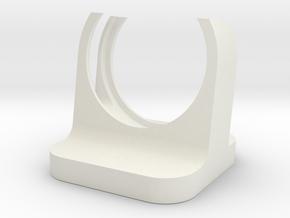 Minimalist Apple Watch Stand in White Natural Versatile Plastic