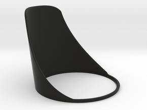 "NEODiVR ""Stealth"" L. Eye Shield (6 of 6) in Black Natural Versatile Plastic"