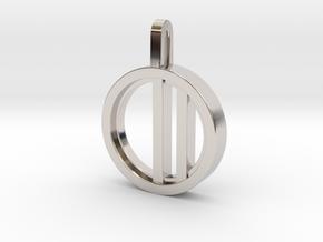 Minimalist - Unisex in Rhodium Plated Brass: Small
