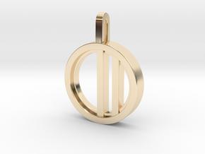 Minimalist - Unisex in 14K Yellow Gold: Small