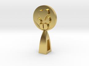 CUSTOM PAW PRINT  in Polished Brass
