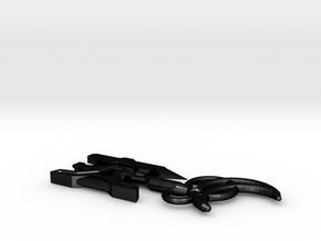 Angel's Raze Key in Matte Black Steel