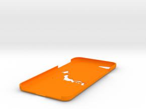 iPhone7 Case -Japan Map 2 in Orange Processed Versatile Plastic