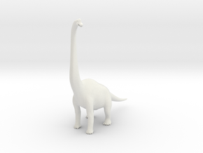 Brachiosaurus in White Natural Versatile Plastic