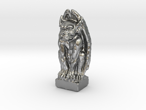 Gargoyle: Dollhouse scale, 50mm tall in Natural Silver