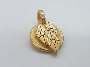Rarity Pendant in Polished Gold Steel