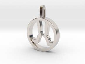 You and Me Necklace in Rhodium Plated Brass: Small