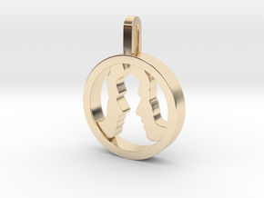 You and Me Necklace  in 14K Yellow Gold: Small