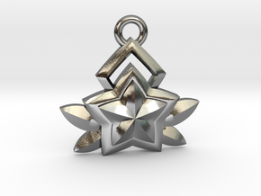 Star Guardian - Janna (Charm) in Polished Silver