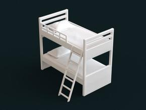 1:39 Scale Model - Bunk Bed 01 in White Natural Versatile Plastic