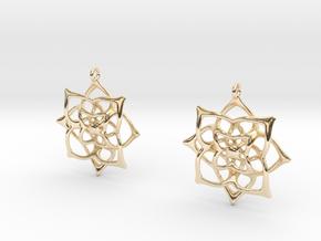 Flowery Earrings in 14k Gold Plated Brass