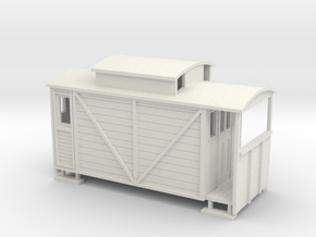 OO Ballast brake / brake van  in White Natural Versatile Plastic