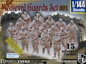 1/144 Medieval Guards Set001 in Smooth Fine Detail Plastic