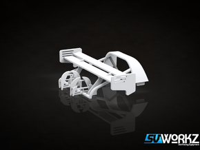 SV Workz - Radical SR3 - Rollcage & Wing (1:32) in White Processed Versatile Plastic