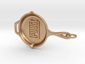 PUBG pan Keychain in Natural Bronze (Interlocking Parts)